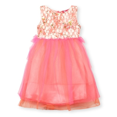 Barbie Party Dress In Digital Print Embroidery