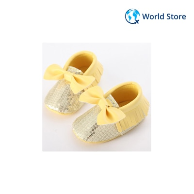 Bowknot Leather Toddler Infant Baby Winter Antislip Shoes Pu Beautiful