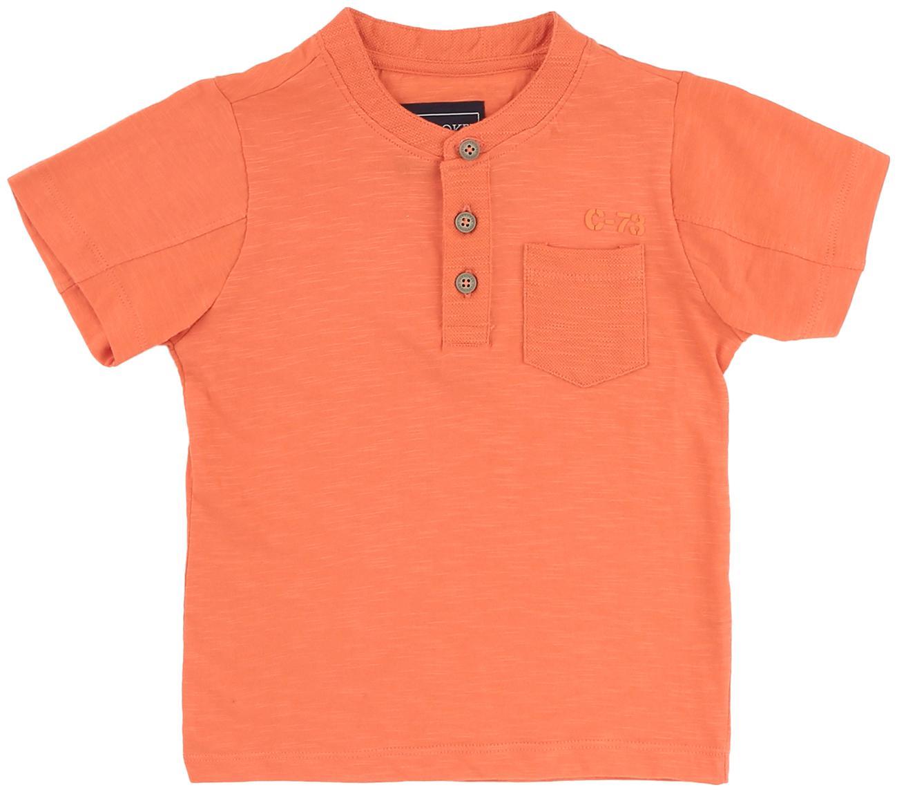 CHEROKEE Boy Cotton Solid T-shirt - Orange