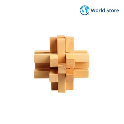 Chinese Traditional Wooden Fourteen Lock Adult Children Puzzle Lock Toy