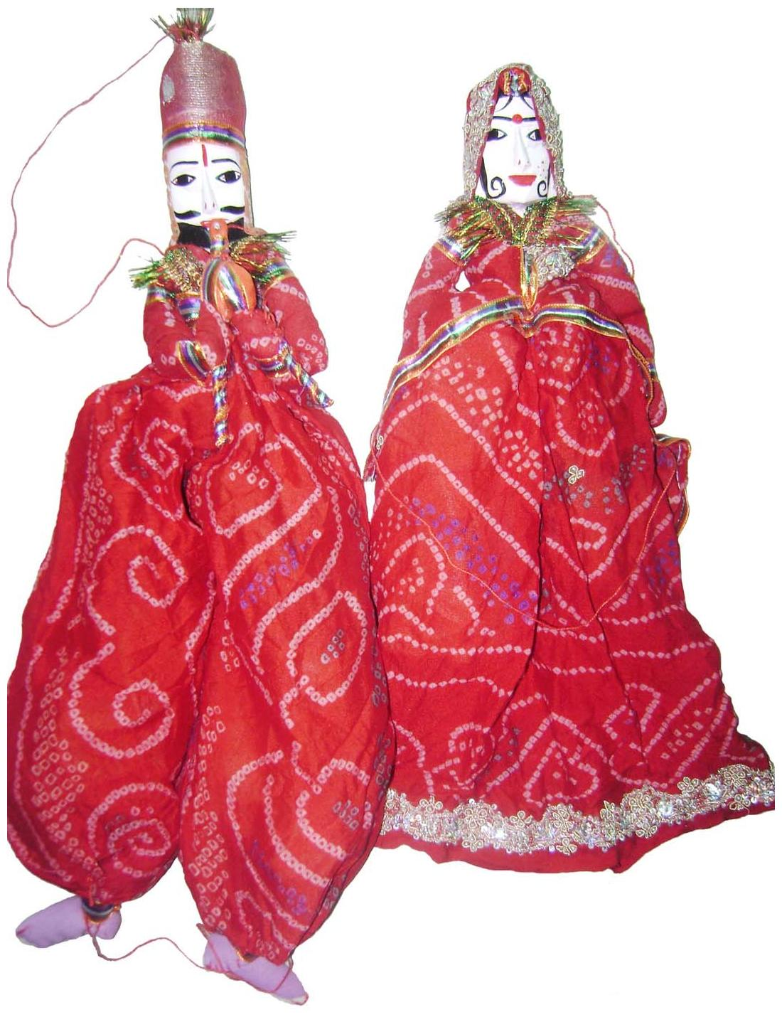 Craft 64 Rajasthani Traditional Handmade Puppets Pair
