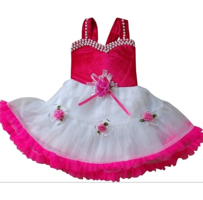 Cute Fashion Kids Girls Baby Princess Pink Party Wear Flower...