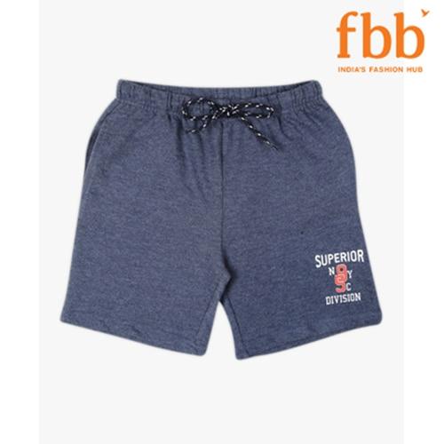 DJ&C Boys Blue Graphic Print Knitted Shorts