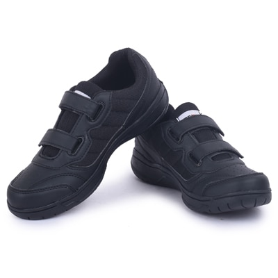 Fuel Kids Black School Shoes