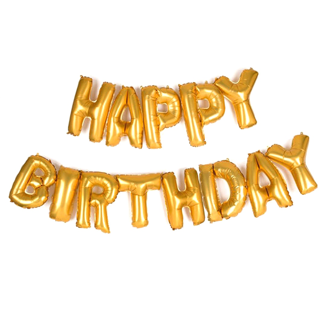 HAPPY BIRTHDAY Golden Letters Foil Balloons For Birthday Party-Set of 13 letters