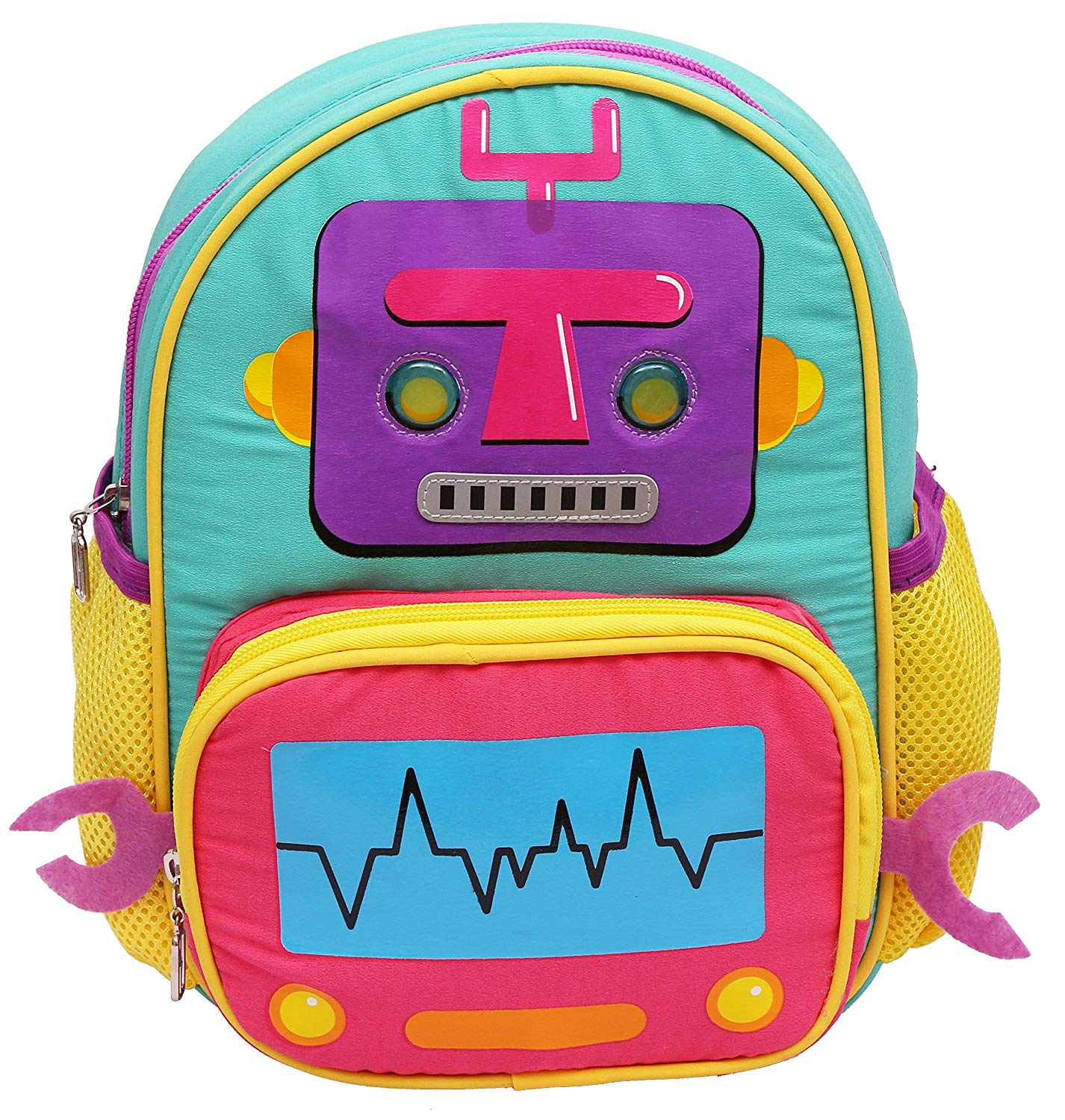 HOOM Polyester Grey and Pink Children'S Backpack (HMSOSB 006-HM)