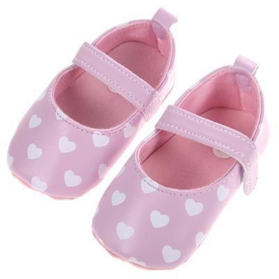 Infant Girls Shoes Soft Bottom Shoes Polka Dot Love Shoes(Pink)(11) # International Bazaar
