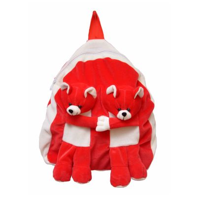JRP Mart Twins Red Soft Toy Bag - 35 CM