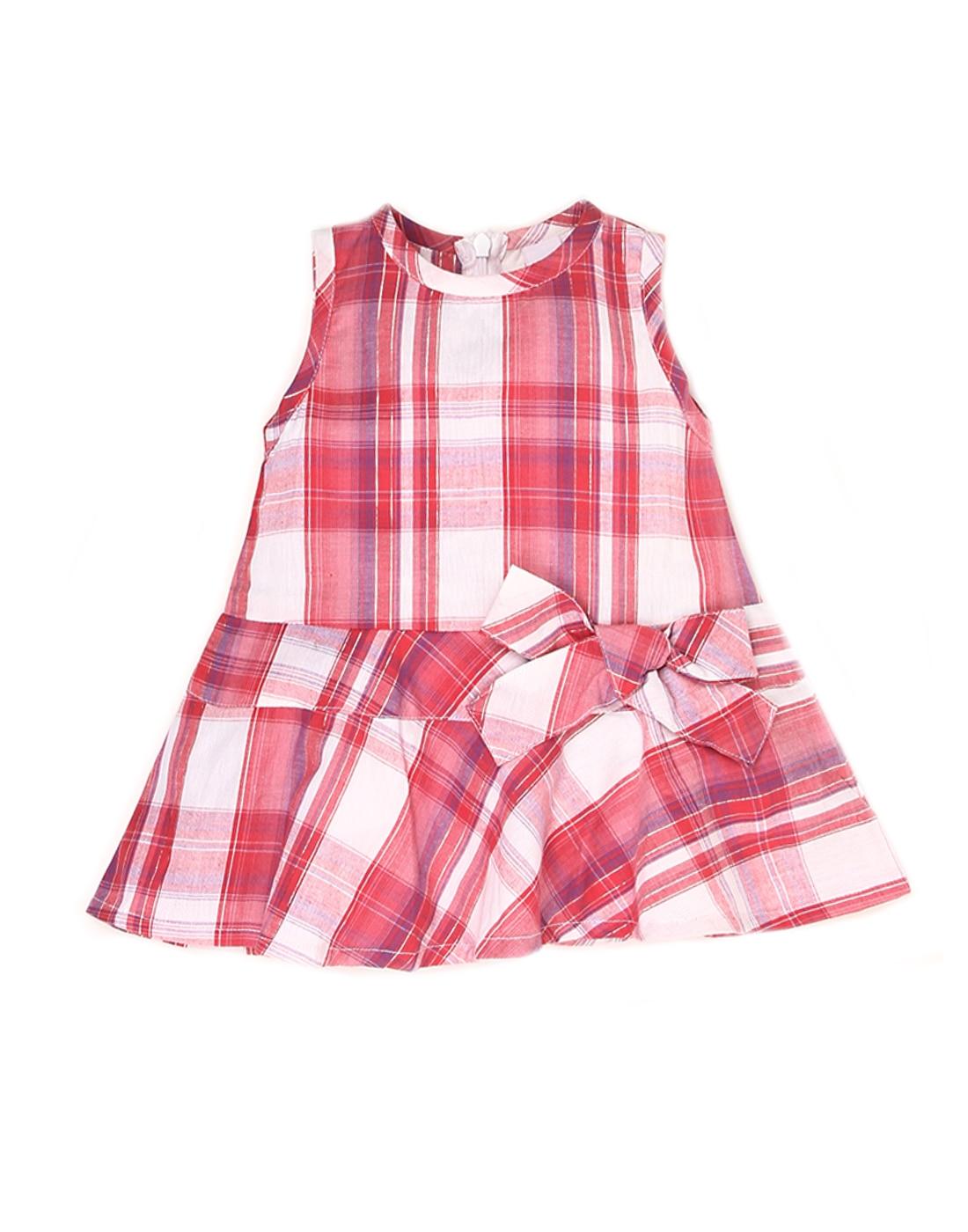 K.C.O 89 Baby Girls Pink Checkered Dress