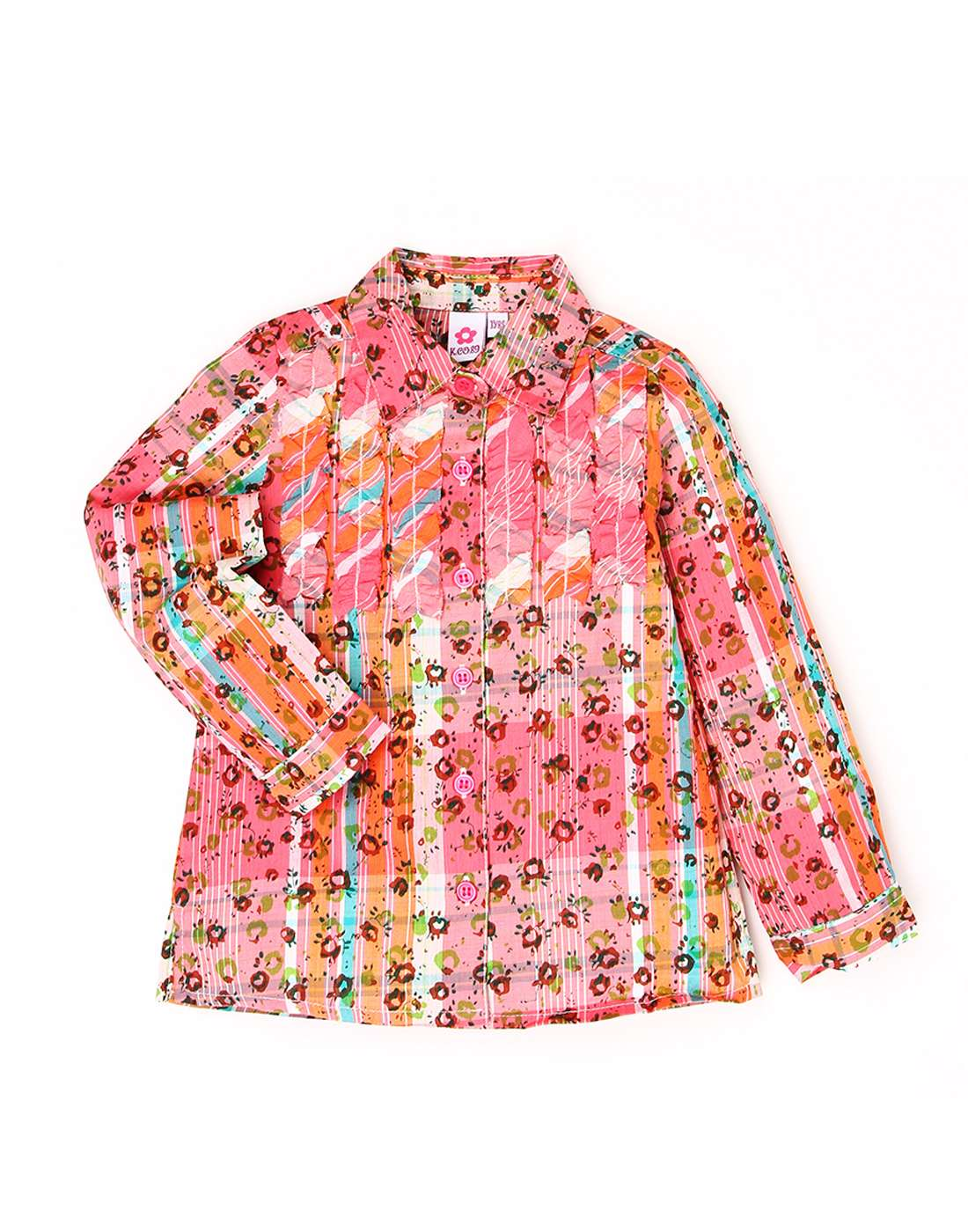 K.C.O 89 Girls Casual Floral Print Full Sleeves Top