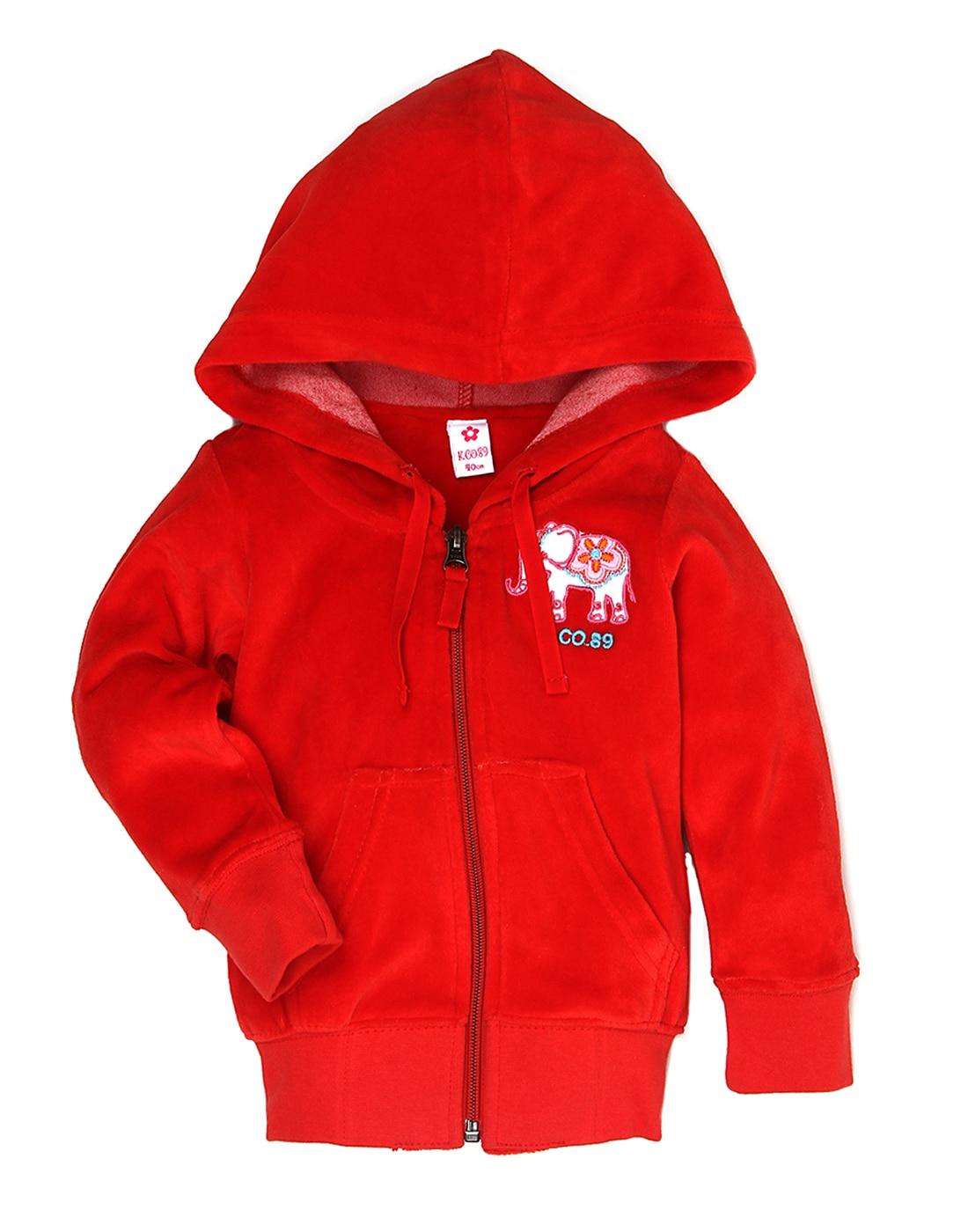 K.C.O 89 Girls Red Solid Sweat Shirt