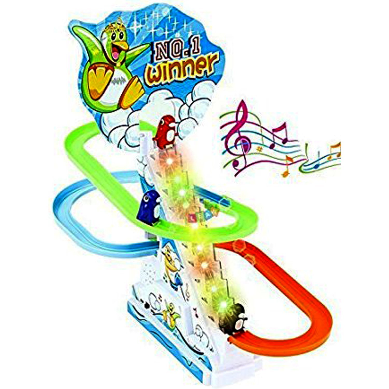 Kid's Funny Penguin Race Toy (Multicolour)