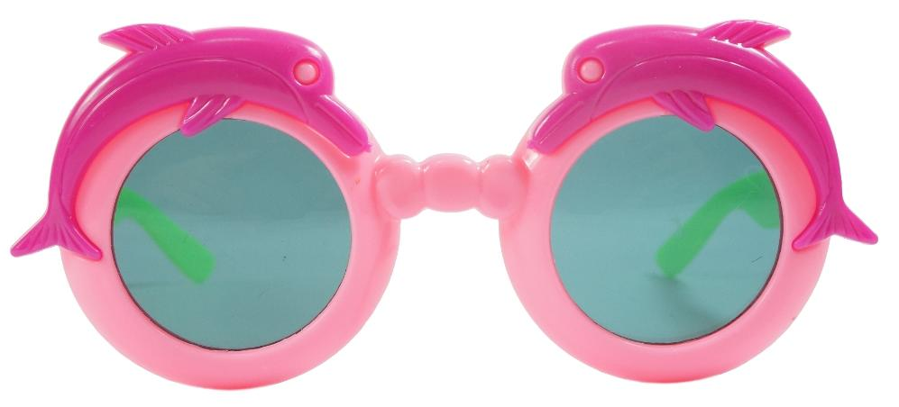Kidz Pink Round Fish Sunglasses