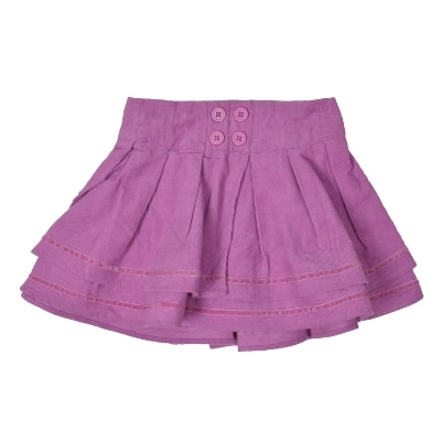 Kimi Solid Baby Girls A-line Pink Skirt