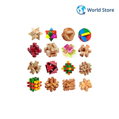 Kong Ming Luban Lock Traditional Toy 3d Wooden Puzzles Intellectual...