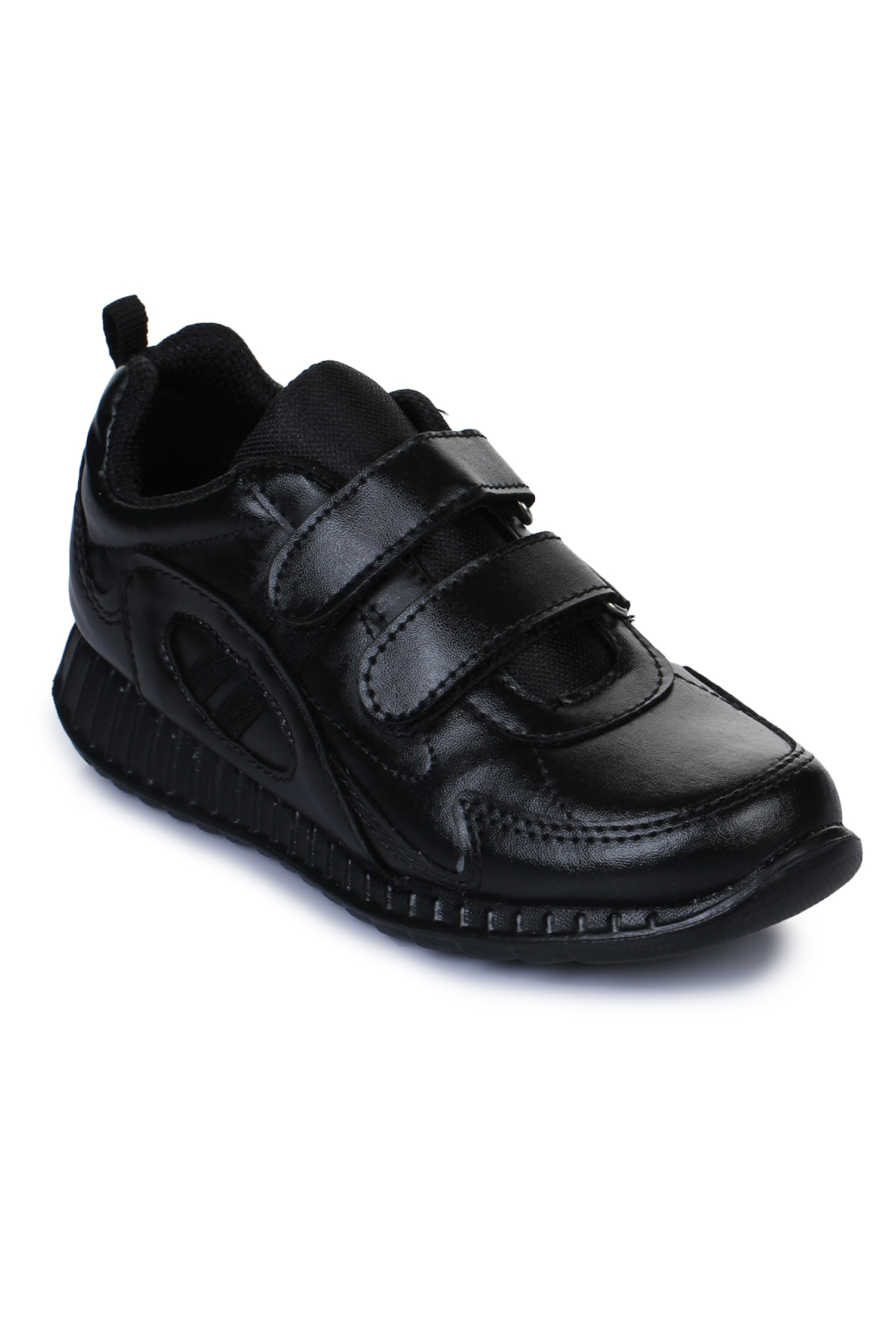 Liberty Force 10 Black School Shoes for boys