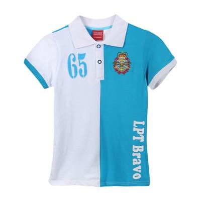 Lilliput Blue & White Cotton T-Shirt