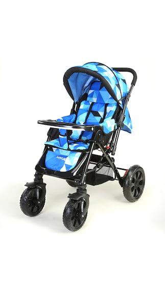 LuvLap Baby Stroller Pram Elegant Blue