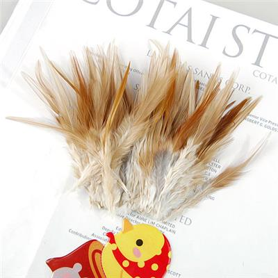 Magideal 50pcs Rooster Cock Coque Saddle Feather 4-6 Inch - Natural Color