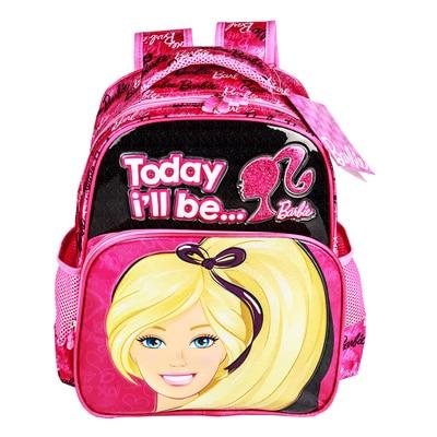 Mattel Barbie Pink And Black Kids School Bag By Mattel