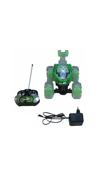 Mixed Bag Green Remote Controlled Stunt Car