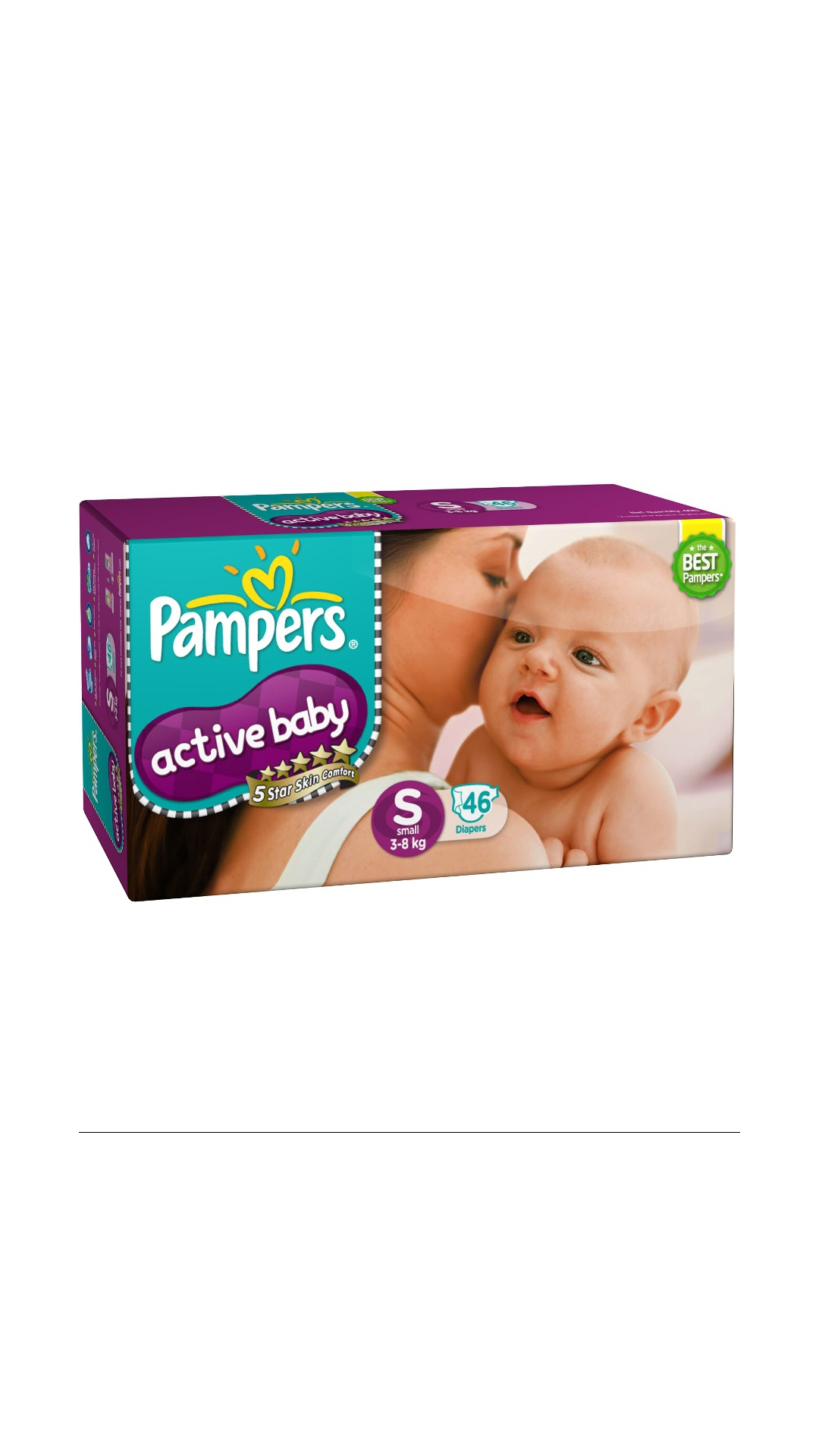 Pampers Active Baby Diapers S 46's