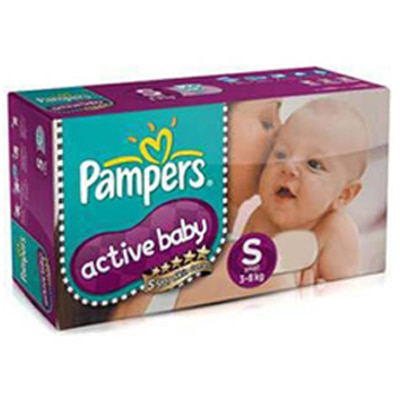 Pampers Active Baby Regular Diaper S - 46 Pcs