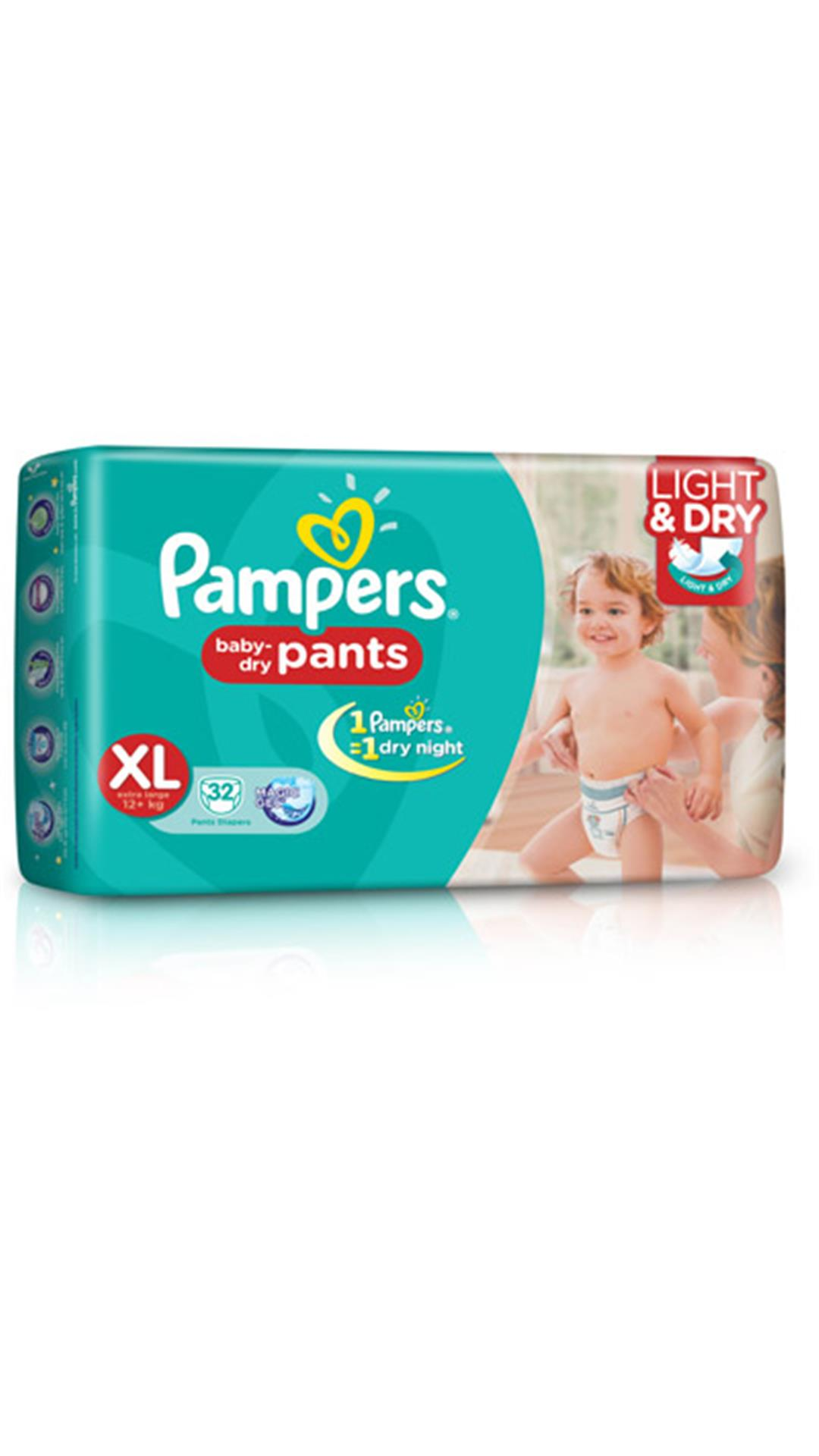 Pampers Baby Dry Pants Diaper XL - 32 Pcs(Pack of 2)