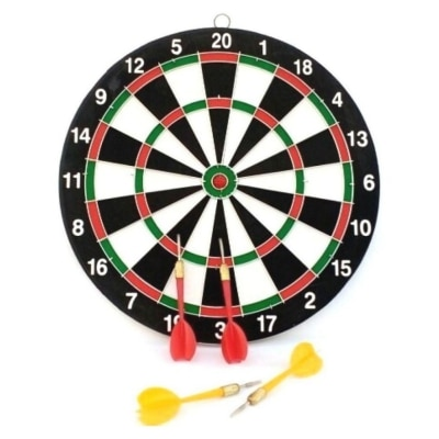 Parteet Double Side Dart Board Game with 4 Darts