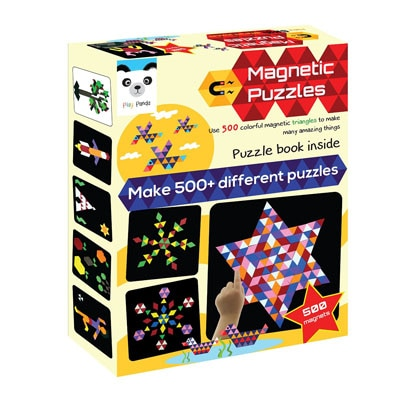 Play Panda Magnetic Puzzles - Triangles