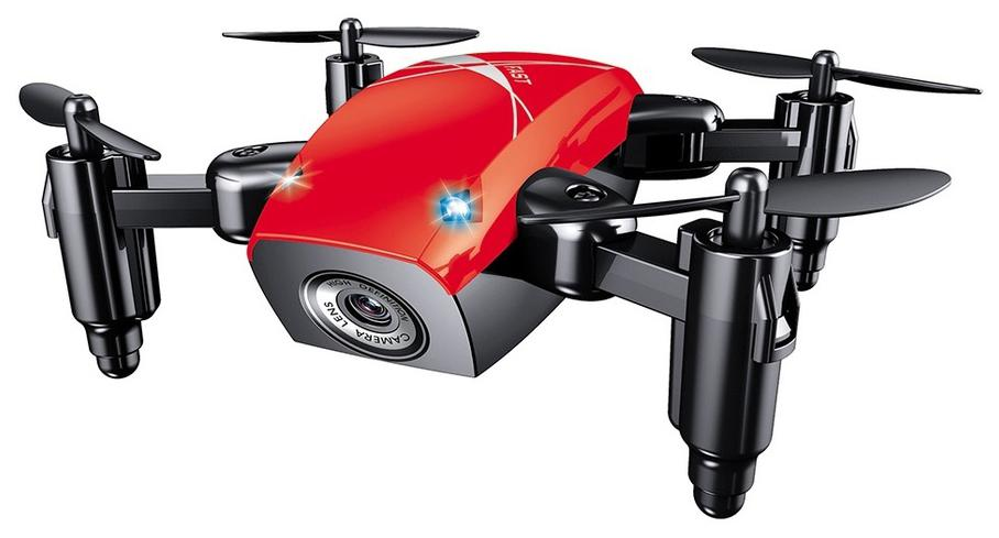 Premsons RC Drone Mini Selfie Pocket Quadcopter Live Video Headless Mode with RC Toys for Kids & Beginners as Gift ( with Camera;S9w ) - Red