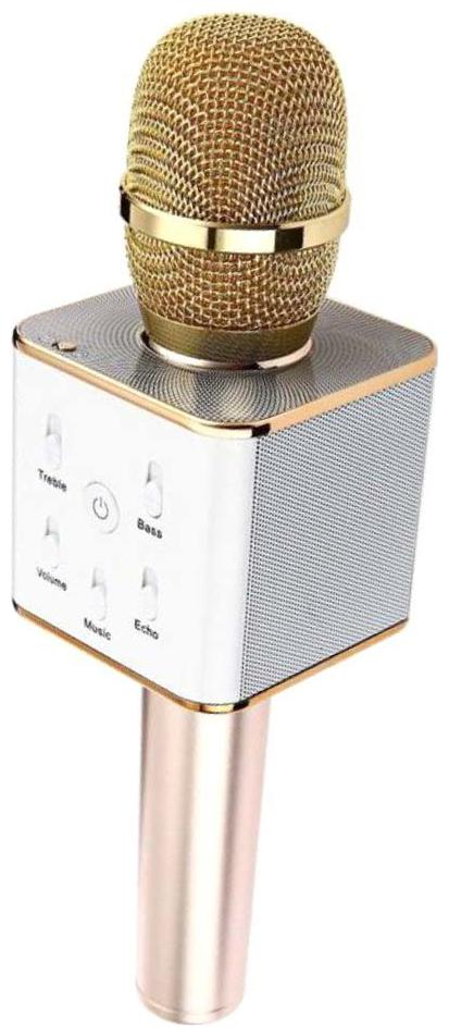 Q7 Portable Wireless Mic with Inbuilt Bluetooth Speaker, Supports Mobile Devices Also
