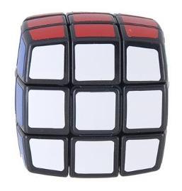 QJ35689 QJ-33 Sticker Plastic 3 x 3 Cube -Black