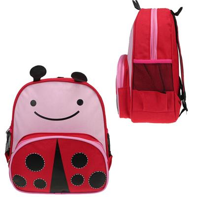 Red lady bug shaped school bags