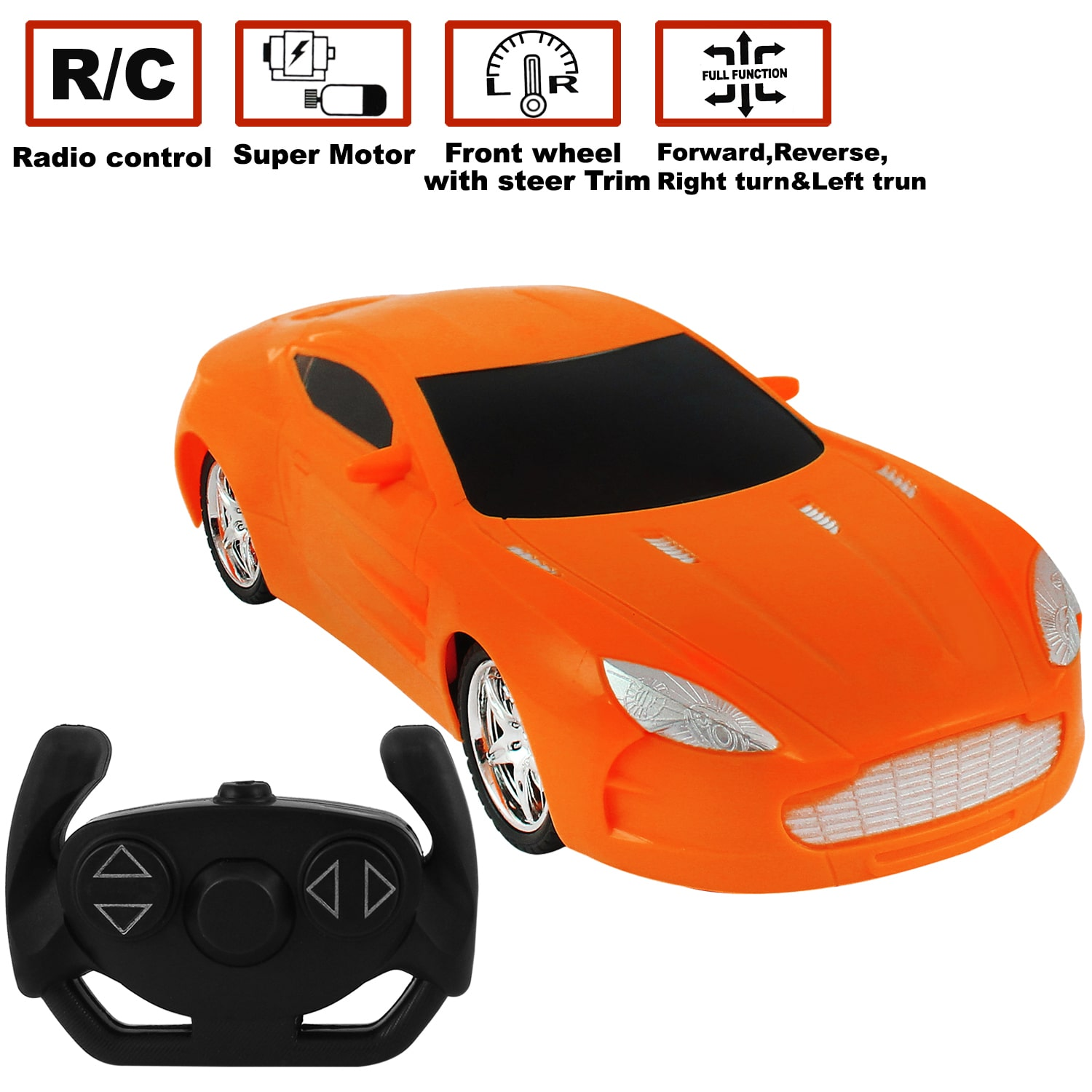 Remote Control Car Four Way High Speed | Right Left Backward and Forward Direction | 22 cms Length | Kids...