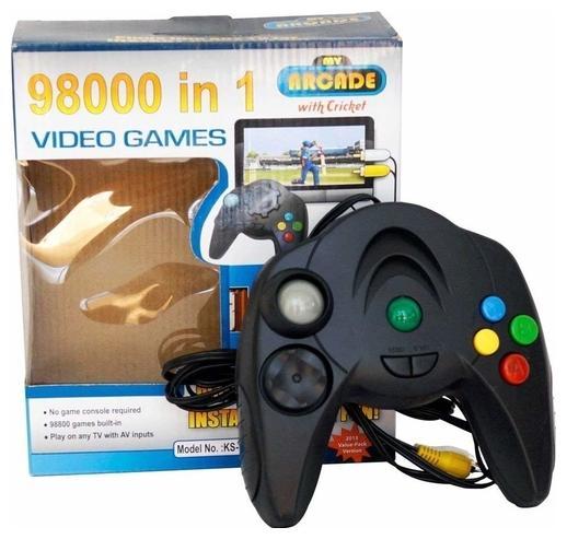 Shrines 98000 in 1 Video Game (Black)