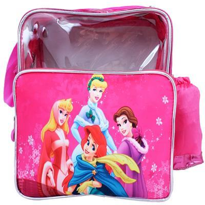 Super Drool Pink Cartoon Love Transparent Girls Sling Bag (4 Litres)