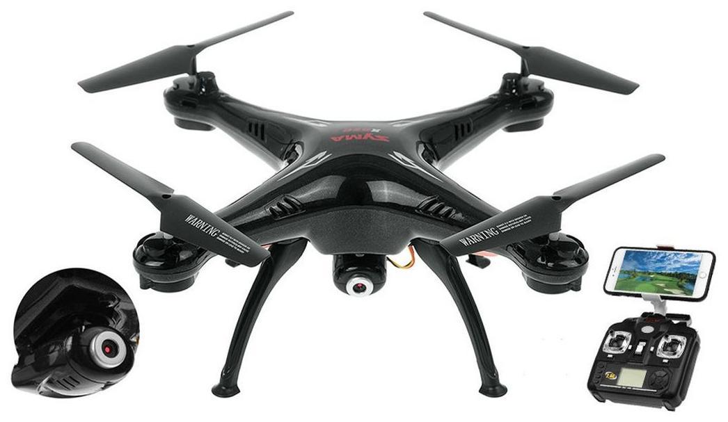 Hobbitos Syma X5SW FPV Live Video Streaming Wi-Fi Camera 2.4G 4CH 6-Axis Gyro RC Headless Quadcopter