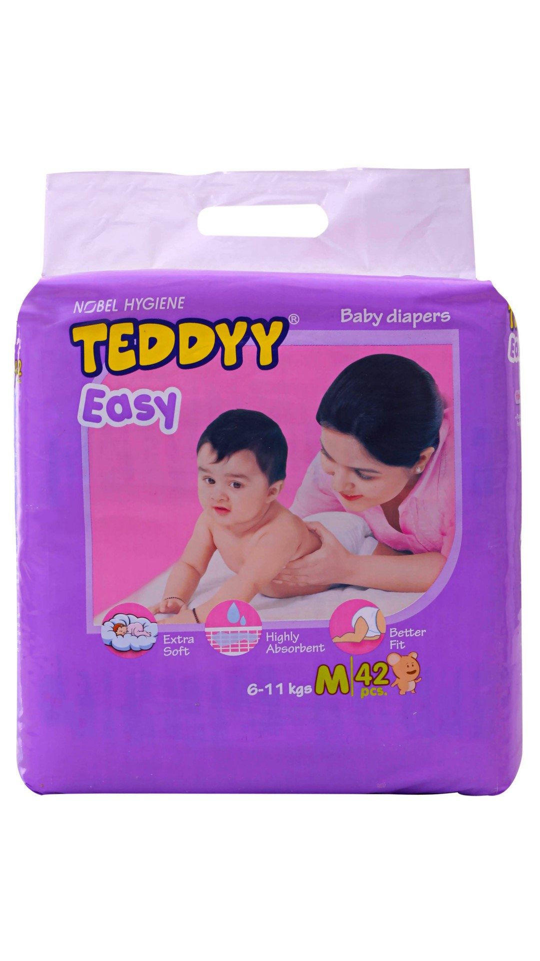 Teddy Easy Baby Regular Diaper M - 42 Pcs