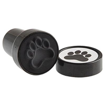 US Toy Black Dog Puppy Paw Print Mini Stampers (Lot of 6)