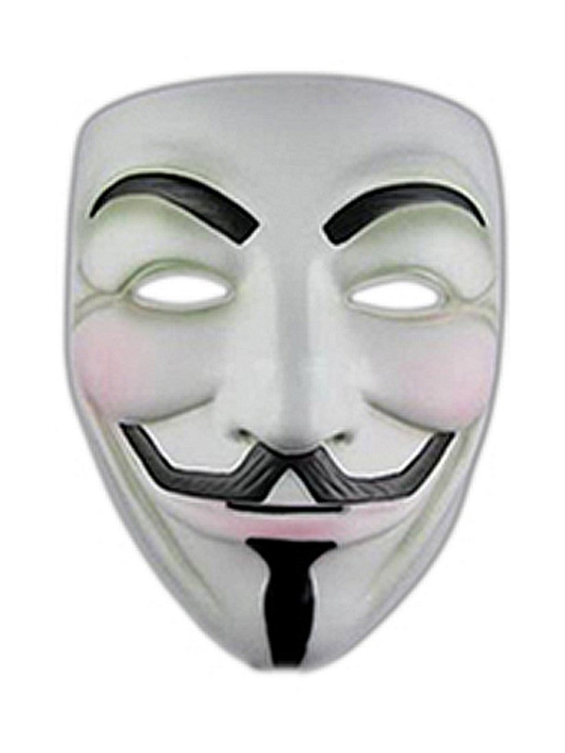 Vendetta Comic Face Mask Anonymous Guy Fawkes, White Mask 1Pc