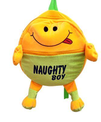 Vpra Enterprises Yellow & Green Naughty Boy School Bag - 40 CM