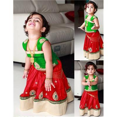 WHiteButton new arrival designer embroidery green red pure cotton navratri...