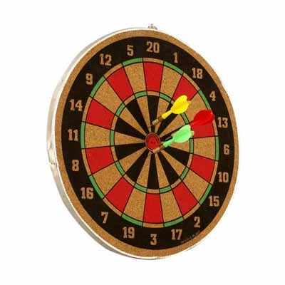 Wood O Plast Dart Board Set - 14 Inches