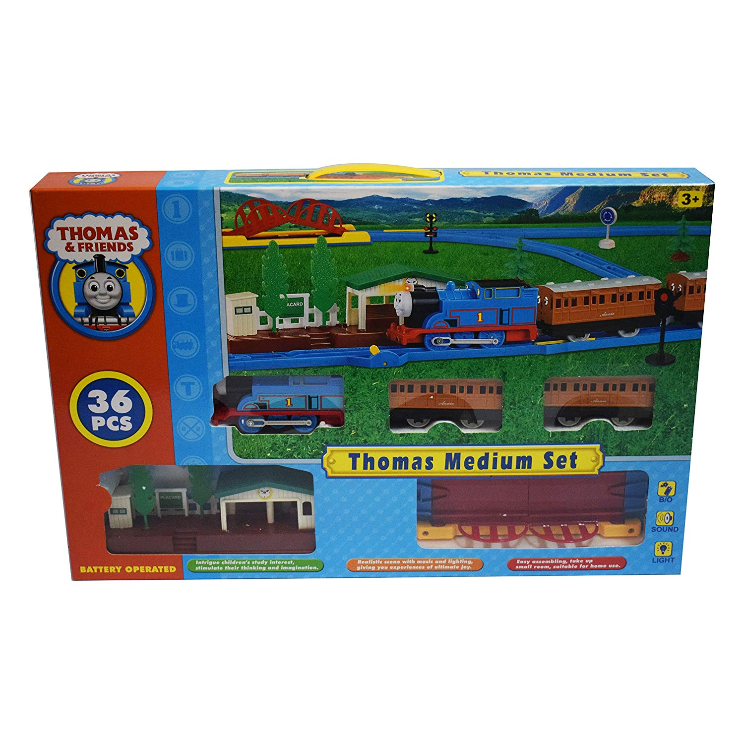 Zenith Toys Thomas and Friends Electric Track Train Set with Platform (Multicolour)