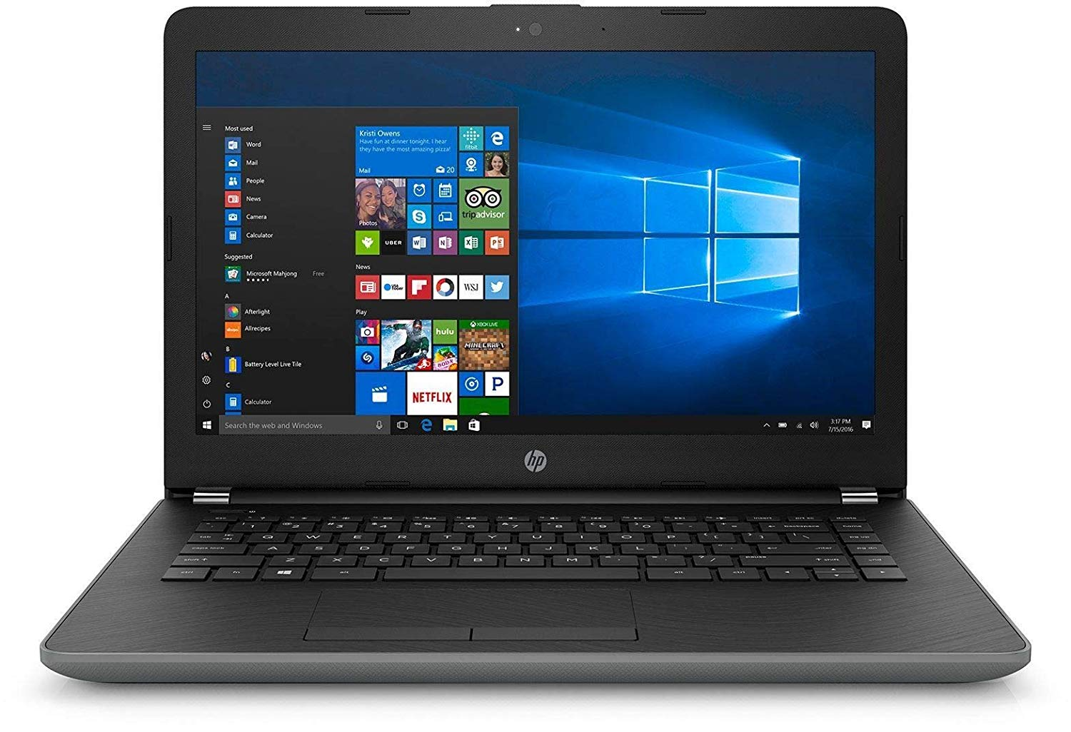 "HP 14q (Core i5 7th Gen/4 GB/1 TB/14""/Windows 10) 14q-BU008TU (Grey, 1.9 Kg)"