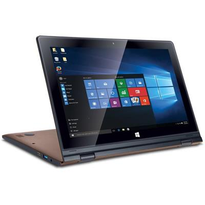 "Iball Flip X5 (Atom Quad Core/2 GB/ 32 GB/29.4 cm (11.6"")/Windows 10) Brown"