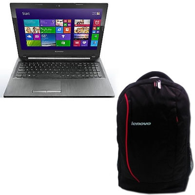 Lenovo B50-80 (59430829) (Pentium Dual Core (4th Gen)/2 GB/500 GB/39.62 Cm (15.6)/Windows 8.1) (Black) With Free 38.1 Cm (15) Laptop Backpack