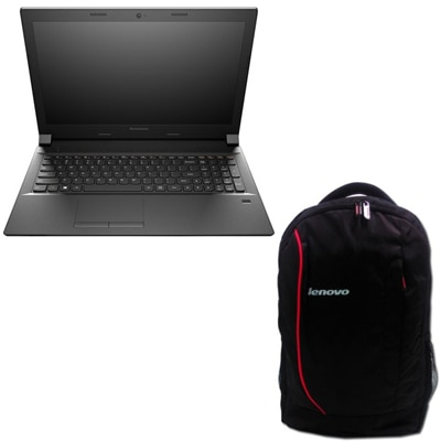 Lenovo B50-80 (Pentium Dual Core (4th Gen)/2 GB/500 GB/39.62 Cm (15.6)/Windows 8.1) (Black) With Free 38.1 Cm (15) Laptop Backpack