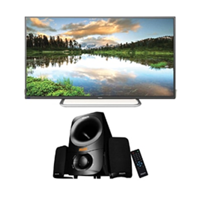 Haier 109 cm (43) Full HD Standard LED TV LE43B7000 With Free Philips Thunder IN-MMS6000F Multimedia Speaker (Black)